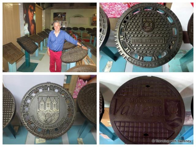 """International Manhole Cover Museum, Bottoni Manhole Collection"""