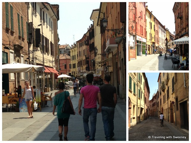 """Old Jewish ghetto of Ferrara, Italy"""