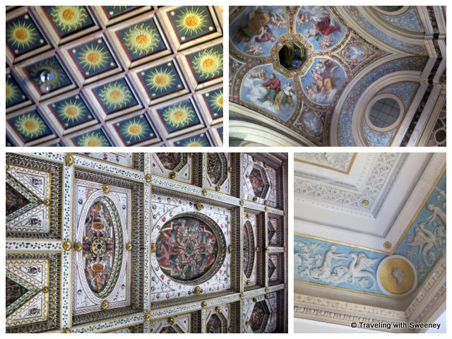 """Ceilings of Castello Estense, Ferrara, Italy"""