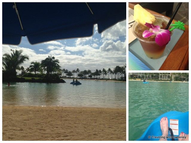 """Water activities and tasty Mai Tai by the pool, Hilton Hawaiian Village"""