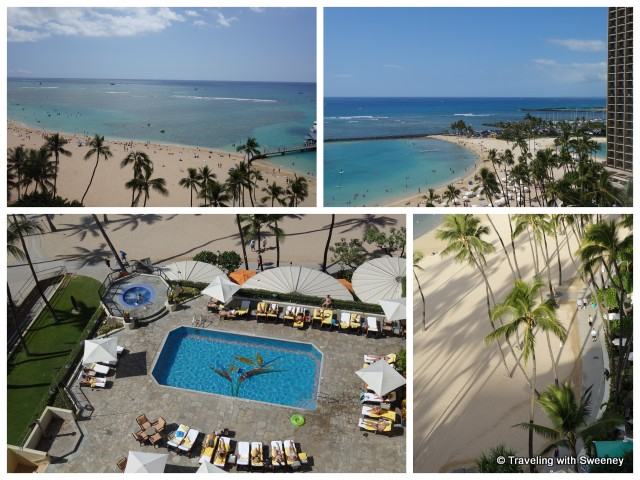 """View from a room on the 11th floor of the Ali'i Tower at Hilton Hawaiian Village, Honolulu"""