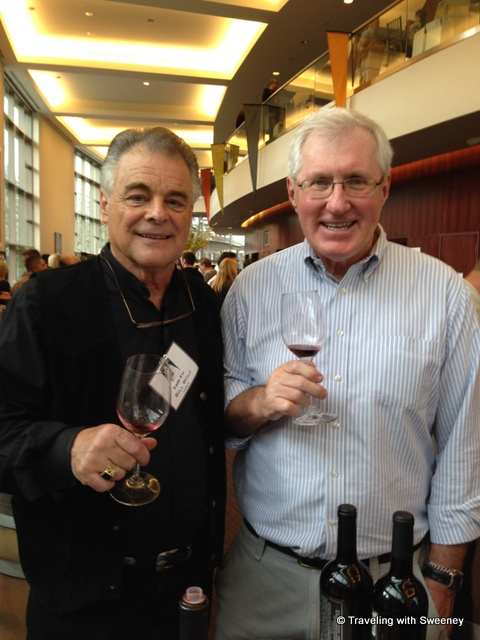"""Bill Wolf of Eagle Eye Winery and Mr. TWS at CabFest Napa Valley, Yountville, California"""