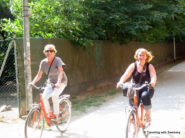 """Riding bikes around Ferrara, Italy"""