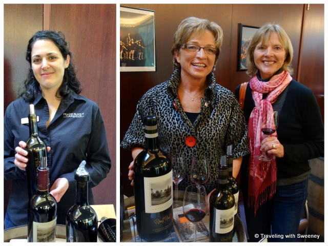"""Jenn Sela of Frank Family Winery and Ann Catterlin of Round Pond Estate"""