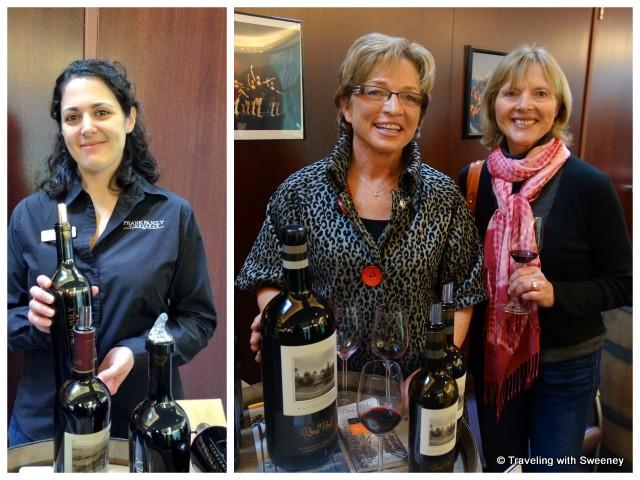 """Jenn Sela of Frank Family Winery and Ann Catterlin of Round Pond Estate"""