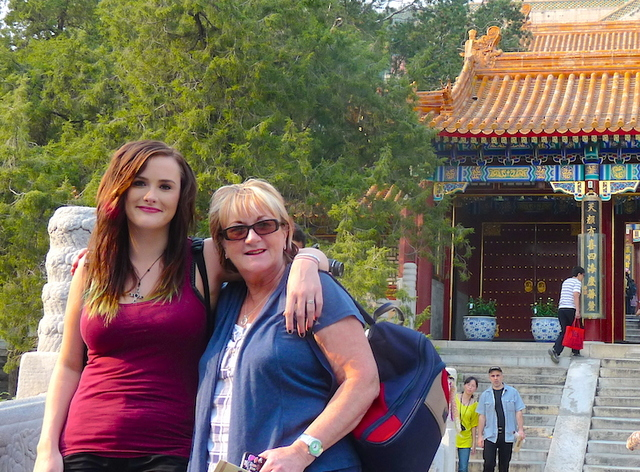 """Anastasia of Gallivant Girl traveling with mom in China"""