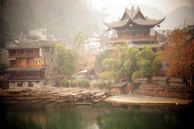 """Scene from one of the oldest towns in China, Fenghuang in Hunan province."""