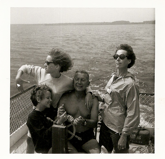 """""""Kristin Henning of Travel Past 50 on a boat on Lake Superior with her mother"""""""