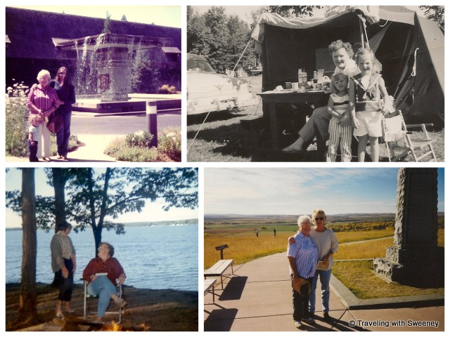 """Catherine Sweeney traveling with mom in Sonoma County, Michigan and Montana over the years"""