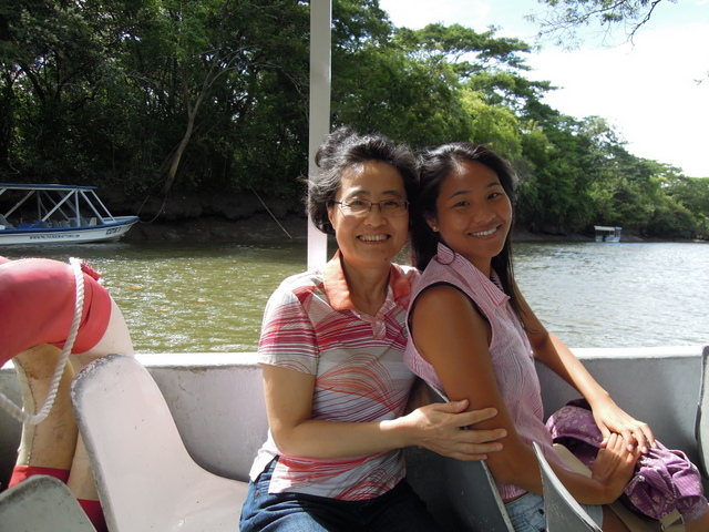 """Samantha and her mother in Costa Rica"""