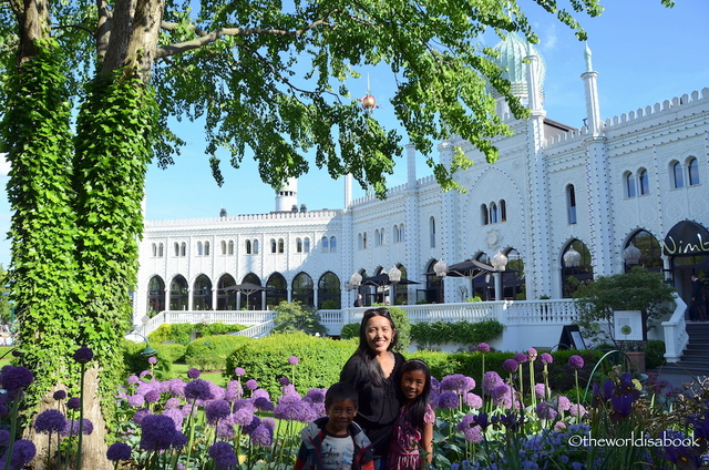 """Mary Solio with her daughter Shae at Tivoli Gardens"""