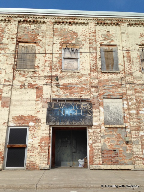 """Back of a building in downtown Marinette, Wisconsin"""