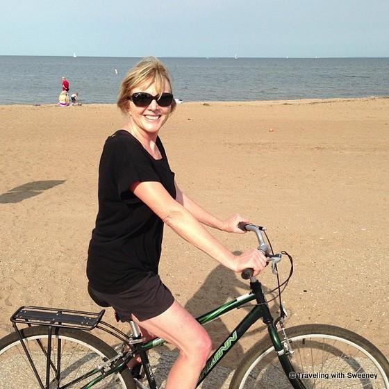 """""""Bike on Red Arrow Beach in Marinette, Wisconsin"""""""