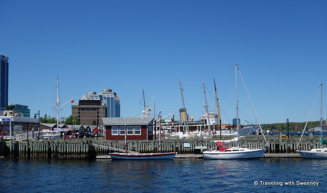 """One of many Halifax highlights -- Boats and buildings along the Halifax Harbourfront, Nova Scotia"""