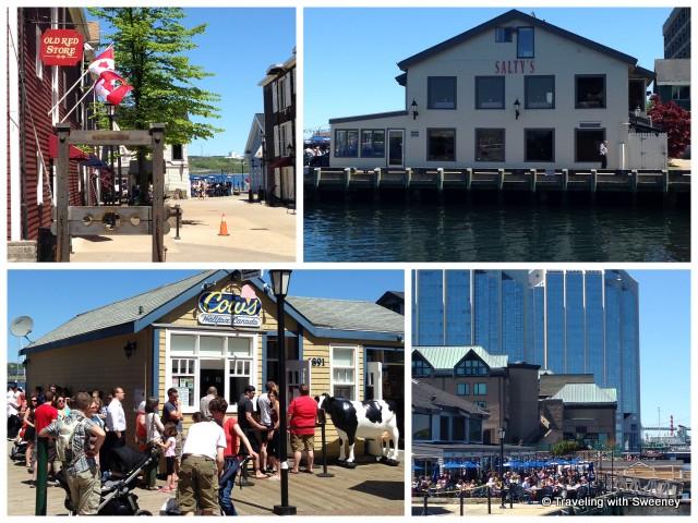 """Shops and restaurants along the boardwalk on the Halifax Harbourfront"""