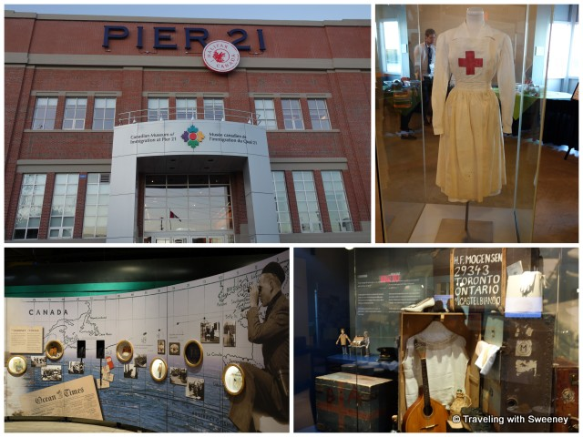 """Exhibits at the Canadian National Immigration Museum at Pier 21, Halifax"""
