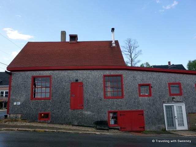 """Ironworks Distillery in the old blacksmith's shop, Lunenburg, Nova Scotia"""