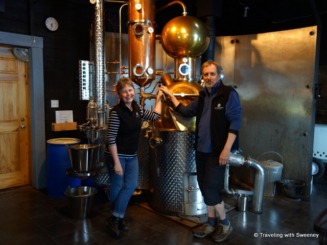 """Pierre Guevremont and Lynne MacKay of Ironworks Distillery, Lunenburg"""