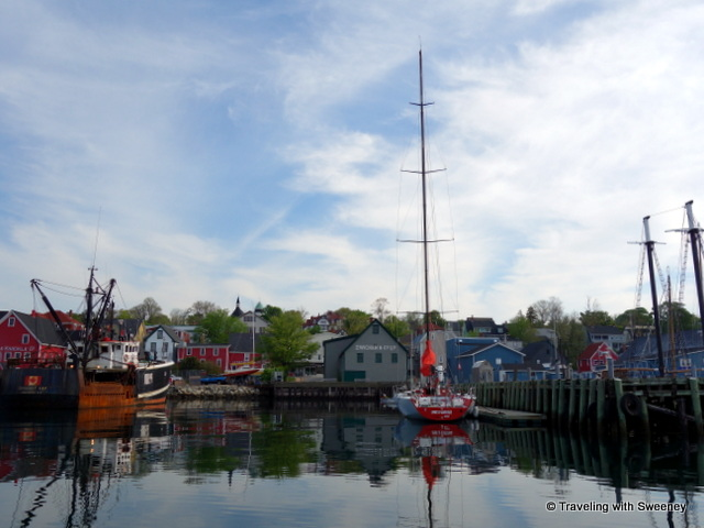 """View of Lunenburg, Nova Scotia from Lunenburg Harbour"""