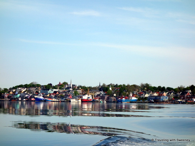"""View of Lunenburg, Nova Scotia as we set sail on Lunenburg Harbour"""