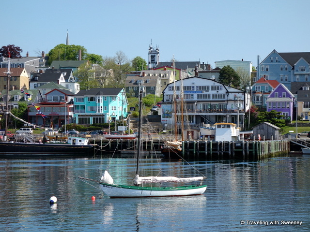 """Charming Lunenburg, Nova Scotia seen from Lunenburg Harbour"""