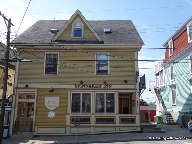 """Spinnaker Inn and Salt Shaker Deli on Montague Street, Lunenburg, Nova Scotia"""