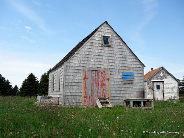 """Buildings with character -- typical of Blue Rocks, Nova Scotia"""