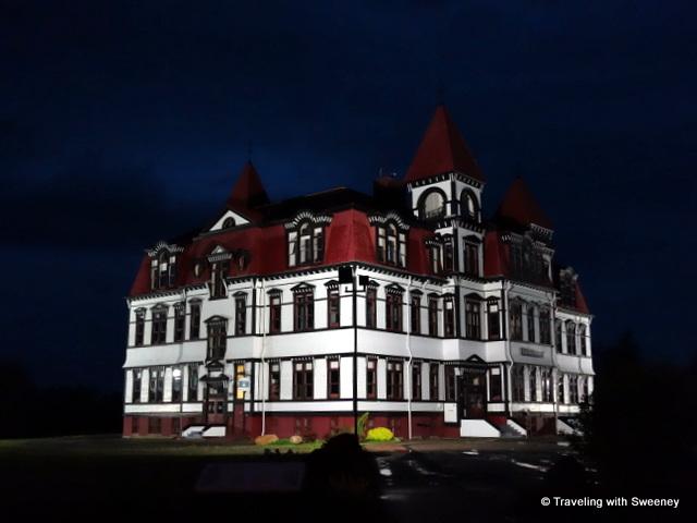 """Lunenburg Academy at night, Nova Scotia"""