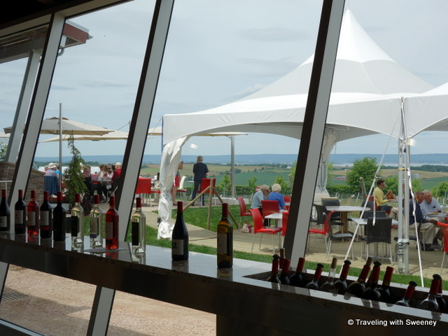 """Luckett Vineyards - tasting room and Crush Pad Bistro patio, Wolfville, Nova Scotia"""