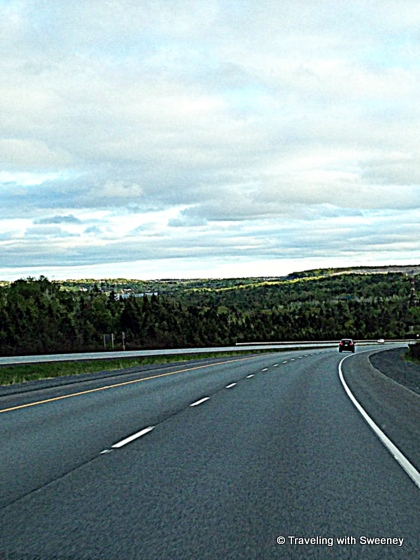 """Traveling on a highway on a Nova Scotia road trip"""