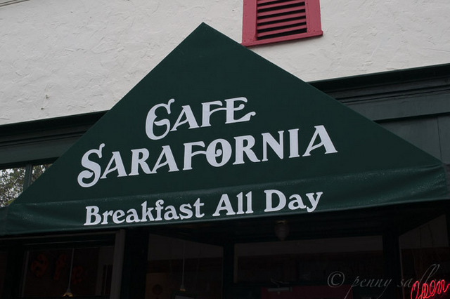 """Sarafornia restaurant in Calistoga"""