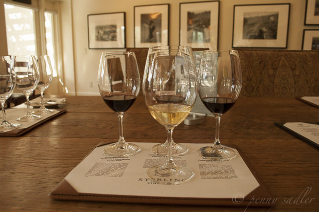 """Wine for tasting at Sterling Vineyards, Napa Valley, California"""