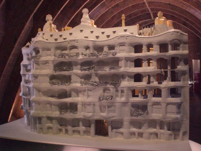 """Scale model of Casa Mila, Barcelona"""