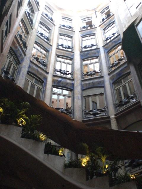"""""""Casa Mila open courtyard, Barcelona"""""""