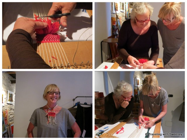 """On our Italy itinerary: Weaving lessons with Guiliana in Portico di Romagna"""