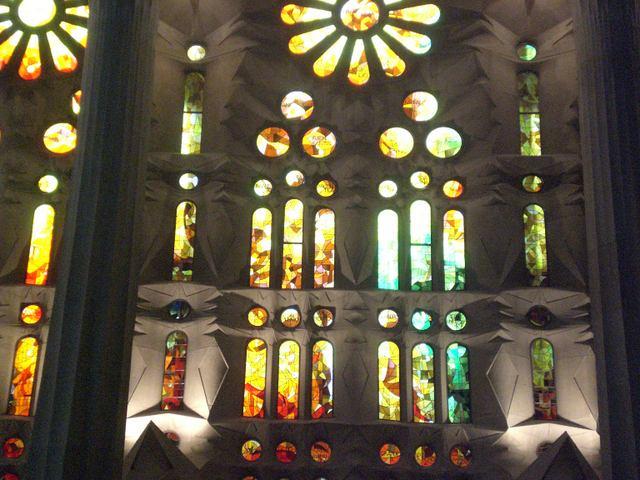 """Awe-inspiring stained-glass windows of Gaudi's Sagrada Familia, Barcelona"""