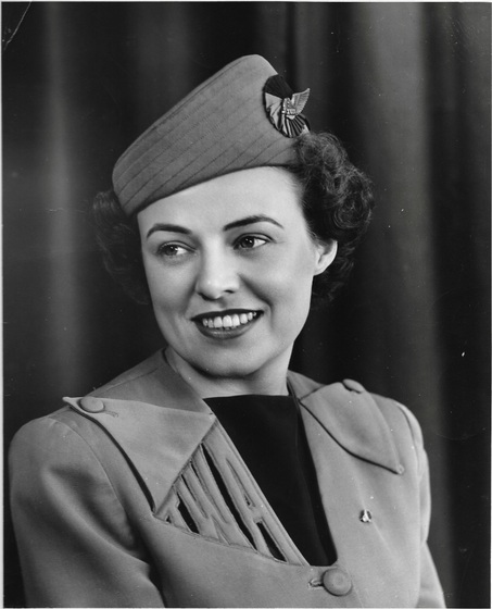 """Portraint of Vi (Sweeney) Ward, TWA Air Hostess 1948"""