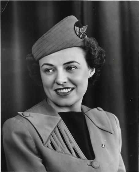 """Portraint of Vi (Sweeney) Ward, TWA Air Hostess 1948"""