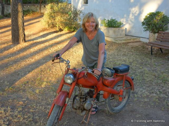 """""""Old motorbike at Masseria il Frantoio, Ostuni, Puglia, Italy"""""""