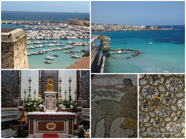 """Views from Castello Aragonese Otranto, inside Otranto Cathedral, Puglia"""
