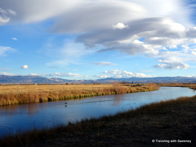 """Hiking along the Carson River on the River Fork Ranch Trail, Carson Valley, Nevada"""