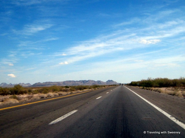 """On I-10 heading into Phoenix"""