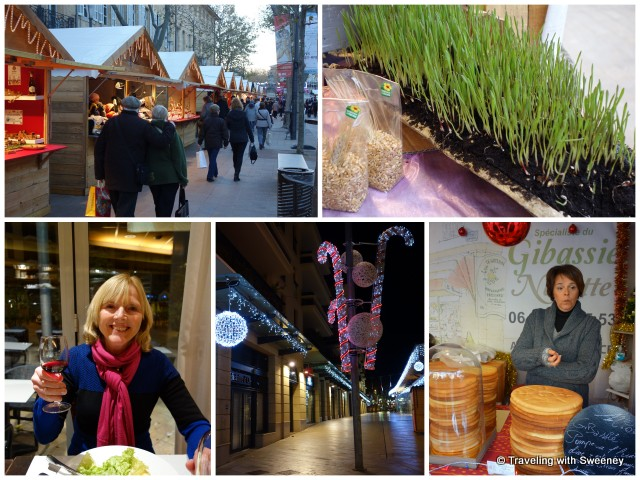 """Toasting to the holidays in Aix-en-Provence: Christmas market, traditional wheat sprouts, and olive bread"""
