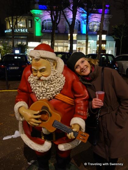 """""""Santa Claus on the Avenue des Champs-Élysées in Paris"""""""