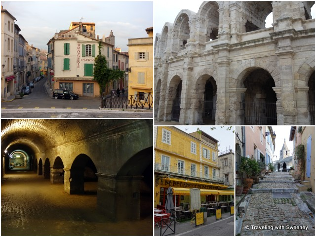 """Streets of Arles, Roman arena, Cryptoportico"""