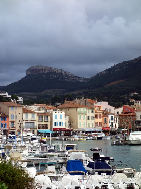 """Couronne de Charlemagne overlooking the village of Cassis, France"""