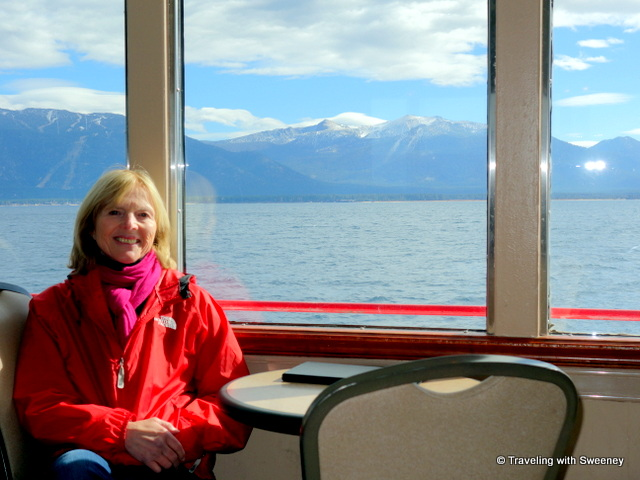 """View from inside the M.S. DIxie II on our Lake Tahoe cruise"""
