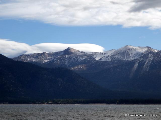 """Scenic mountain views crossing the lake toward Emerald Bay"""