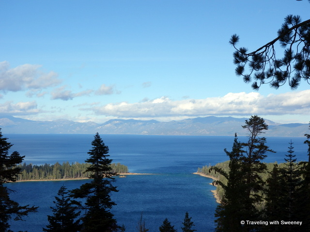 """Lake Tahoe from the California side looking toward Nevada side of the lake"""