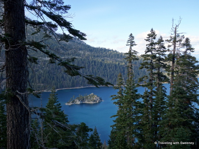 """View of Emerald Bay from Inspiration Point"""